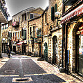 Quiet Shopping Street Before The Shops Open by Doc Braham