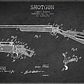 Shotgun Patent Drawing From 1918 by Aged Pixel