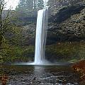 Silver Falls In Winter by Mark Woodward