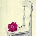 Single Red Rose by Edward Fielding