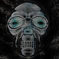 Skull In Negative by Rob Hans