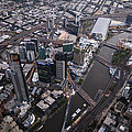 Skyskrapers At Federation Square by Brett Price