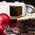 Slice Of Christmas Cake by Amanda Elwell