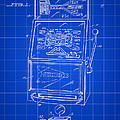 Slot Machine Patent 1978 - Blue by Stephen Younts