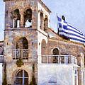 Small Greek Church by Roy Pedersen