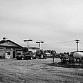 small roadside esso service gas station leader Saskatchewan Canada by Joe Fox