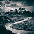 Snake River In The Tetons - 1930s by Mountain Dreams