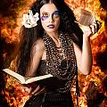 Sorcerer Casting Black Magic Spells Of Fire by Jorgo Photography - Wall Art Gallery