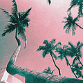 South Beach Miami Tropical Art Deco Wide Palms by Steven Hlavac
