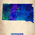 South Carolina Watercolor Map by Naxart Studio