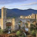 Spain. Besal�. Romanesque Bridge by Everett