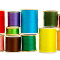 spools of thread by Jim Hughes
