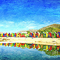 St James Beach Huts South Africa by Neil Overy