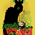 St Patrick's Day - Le Chat Noir by Gravityx9 Designs