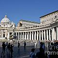 St Peter's Square. Vatican City. Rome. Lazio. Italy. Europe by Bernard Jaubert