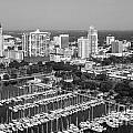 St Petersburg Skyline And Yacht Basin Marina by Bill Cobb