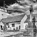 St Sannans Church Bedwellty 2 Mono by Steve Purnell