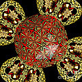 Stained Glass Kaleidoscope Under Glass by Rose Santuci-Sofranko