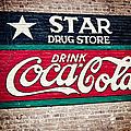 Star Drug Store Wall Sign by Scott Pellegrin