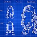 Star Wars R2-d2 Patent 1979 - Blue by Stephen Younts