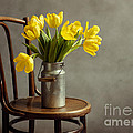 Still Life With Yellow Tulips by Nailia Schwarz