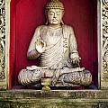 Stone Statue Of Buddha In Bali Indonesia by Jacek Malipan
