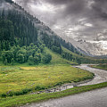 storm clouds over mountains of ladakh Jammu and Kashmir India by Rudra Narayan  Mitra