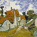 Street In Auvers-sur-oise by Vincent Van Gogh