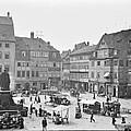Street Market Coburg Germany 1903 Vintage Photograph by A Gurmankin