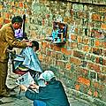 Streetside Barbershop In Hanoi-vietnam  by Ruth Hager