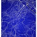 Stuttgart Street Map - Stuttgart Germany Road Map Art On Colored by Jurq Studio
