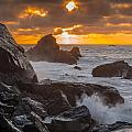 Sun Sets On Patrick's Point by Greg Nyquist