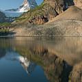 Sunrise On Mount Assiniboine In  Mount by Kennan Harvey