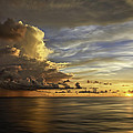 Sunset At Sea by Maria Coulson