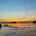 Sunset From North Beach With Deception by Chuck Haney