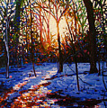 Sunset On Snow by Helen White