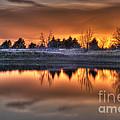 Sunset Over Bryzn by Art Whitton