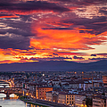 Sunset Over Florence by Brian Jannsen