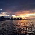 Sunset Over Lake Ontario Beach by Charlotte Gray