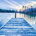 Sunset Over Lake Wylie At A Dock by Alex Grichenko