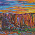 Sunset Over The Canyon by Kathy Peltomaa Lewis