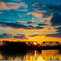 Sunset Railroad Bridge by Berkehaus Photography