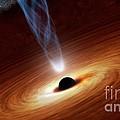 Supermassive Black Hole, Artwork by Nasa