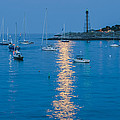 Supermoon At Marblehead Ma by Jean-Pierre Ducondi