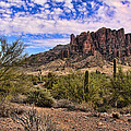 Superstition Mountains by Chuck Seller