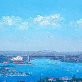 Sydney Harbour And The Opera House Cityscape View by Jan Matson