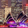 Sydney Skyline At Night With Opera House - Australia by Matteo Colombo