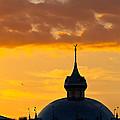Tampa Bay Hotel Dome At Sundown by Ed Gleichman
