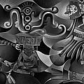Tapestry Of Gods - Huehueteotl by Ricardo Chavez-Mendez
