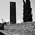 Tarquinia Muro Di Cinta Cipressi Torre Lampione by Giuseppe Cocco